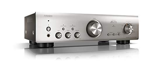 Denon PMA800NESPE2 Stereo-Vollverstärker (Aluminium Frontblende, Digitaleingänge, ECO-Standby, 2x 85 Watt) Premium Silber