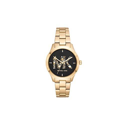 Michael Kors Damen Analog Quarz Uhr mit Edelstahl Armband MK6682
