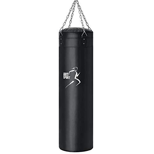 ArtSport Boxsack Set 30 kg gefüllt, Box Set mit 4-Punkt-Stahlkette & Karabinerhaken für Erwachsene, Sandsack...