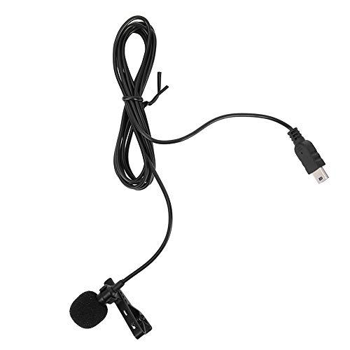 Microfono Mini USB con Clip da Collare, Microfono con Uscita Stereo Omnidirezionale Compatibile per Fotocamere Gopro Hero 3 / 3+ / 4, Microfono Professionale a Risvolto per Registrazioni Audio e Vdeo