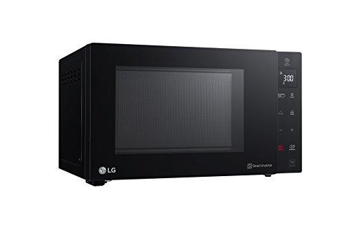 LG Kitchen MH6535GPS.BBKQEUS Forno Microonde Inverter, 1450 Watt, 25 Litri (48 x 27 x 37 cm), Nero