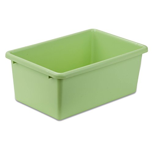 Honey-Can-Do PRT-SRT1603-SMGRN Plastic Storage Bin, Small, Light Green