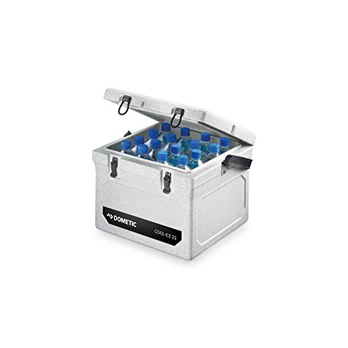 DOMETIC Cool-Ice WCI 22 Insulation Box - High Quality Ideal for Fishing and Hunting, Passive Cool Box, Mini Fridge, Ice Box in Heavy Duty Quality, Capacity 22 Litre