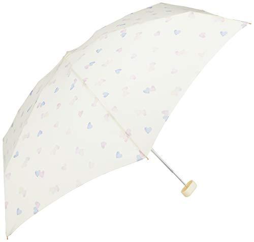ワールドパーティー(Wpc.) 雨傘 折りたたみ傘 白 50cm レディース ポーチタイプ ブラーハートミニ 3004-179 OF