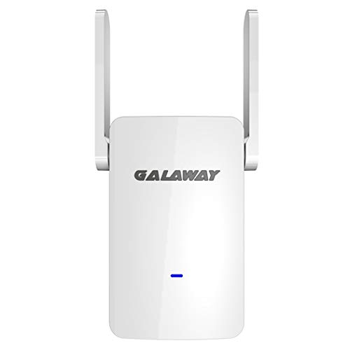 GALAWAY 1200Mbps WiFi Repeater 802.11Ac WiFi Signal Amplifier Wireless Router WiFi Range Extender Booster (White)