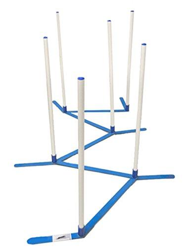 Agility Weave Poles Adjustable 6 Pole Set with...