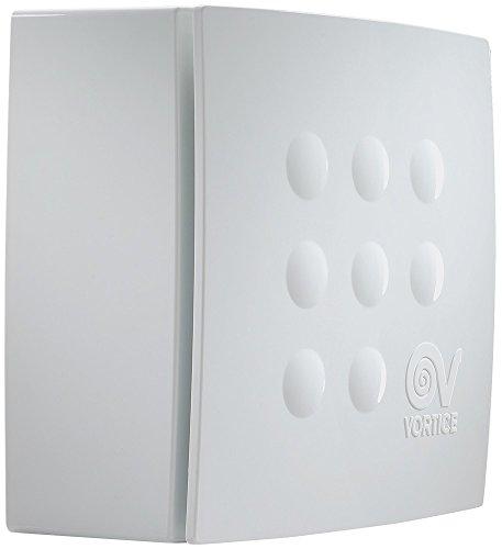 Vortice 11944 Aspiratore centrifugo per condotti Quadro, 29 W, 230 V, Bianco, 120 m3/h