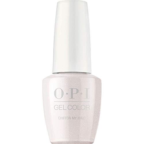 OPI GelColor Nail Polish, White Gel Nail Polish, Chiffon My Mind, 0.5 fl oz