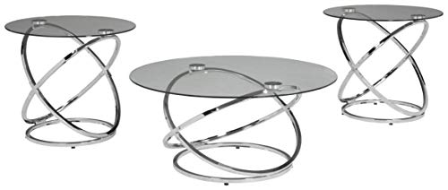 Signature Design by Ashley - Madanere Contemporary 3-Piece Table Set - Includes Cocktail Table & Two End Tables,...