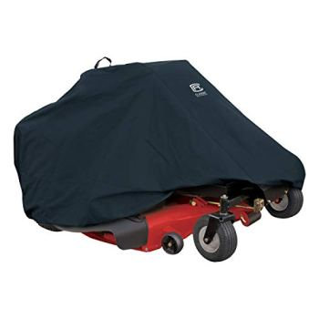 """Classic Accessories 52-150-040401-00 Zero Turn Riding Mower Cover, Up to 60"""" Decks,Black,60 in"""