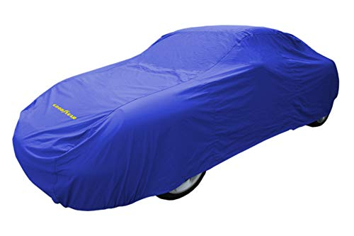 Goodyear Cubierta de coche de alta calidad - Protección impermeable para interiores / exteriores - Grande – Azul