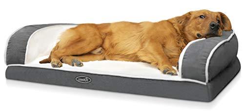 Pecute Divano Letto per Animali Domestici, Divanetto Relax per Cani, Cuccia Cane Gatto, Cuscino Cane di Un Intero Memory Foam a Forma di Uovo (XL 101 * 66 * 20 CM)