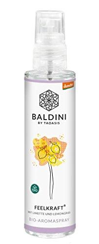 Baldini - Feelkraft BIO-Raumspray aus 100{197db30a03bafd8fd027a93b27eb3b28f48b803bf823d8eeb2216cb1a8ccd677} naturreinen Rohstoffen, demeter, 50 ml
