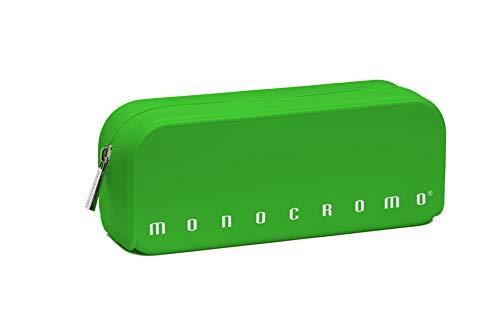 Pigna Monocromo, Astuccio, Portapenne formato Bustina in Silicone, Verde Fluo