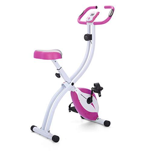 Ultrasport F-Bike Exercise Bike, Display LCD, Home Trainer Pieghevole, Livelli di Resistenza Regolabili, con Sensori di Pulsazioni, per Atleti e Anziani Unisex