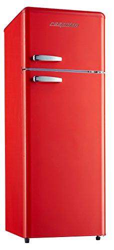 respekta Khl-Gefrierkombination kg 146 Retro Rot A++ Frigorifero, Colore: Rosso
