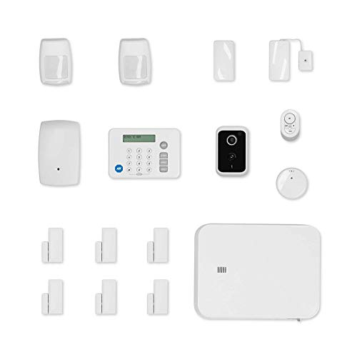 ADT DIY 18-Piece Easy, Smart Home Security System - Optional 24/7 Monitoring - Smart Camera - No Contract - Wi-Fi Enabled - Alexa Compatible