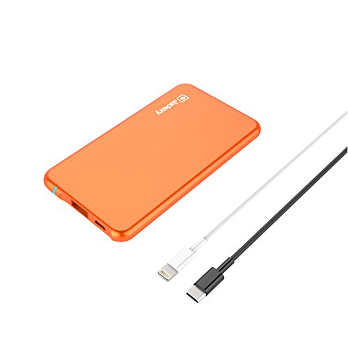 Jackery 4326193982 Air 6 - The Thinnest Portable Battery Charger & External Battery Pack - Designed for Apple iPhones and iPads - 3000 mAh (Apple MFI Certified Lightning Cable Included)