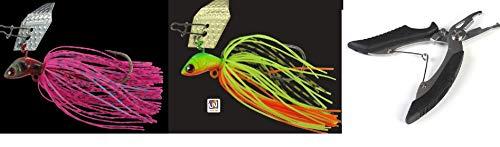 Jenzi Set: 2 Chatter-Bait 10 grammi, Buzzer + forbici da pesca in omaggio