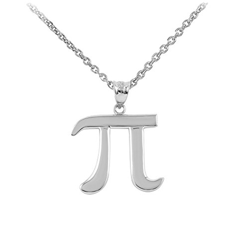 925 Sterling Silver Mathematical Pi Symbol Pendant Necklace