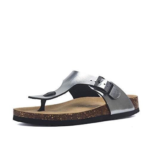 Chancletas Hombre Zapatillas De Corcho De Verano para Hombre Sandalias De Cuero De PU para Hombre Chanclas De Moda para Zapatillas De Hombre Calzado E 43