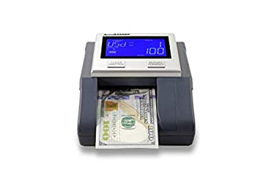 4 Way Orientation insertion (insert bill face up or face down) Identifies, detects, and counts with the latest in multi-currency identification technology for USD, EUR, GBP Easily updated for new bill releases Battery powered for portability (up to 1...