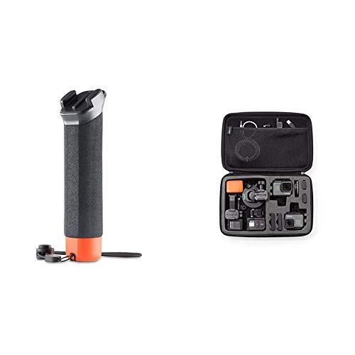 GoPro Impugnatura Galleggiante - Nero & Amazon Basics - Custodia per trasporto GoPro, misura Large