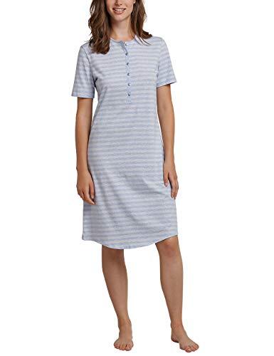 Schiesser Damen 1/2 Arm, 100cm Nachthemd, Blau (Hellblau 805), 42 (Herstellergröße: 042)