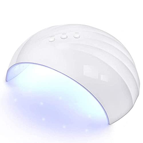 UV LED Nail Lamp PHIAKLE Professional Nail Dryer for Gel and Regular Polish Led Lamp for Gel Nails 3 Timers White