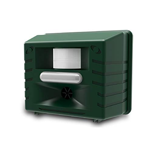 ASPECTEK Ultrasonic Animal Repeller Outdoor Animal Repellent Motion Activated with Strobe LED Light for Rodents, Deer, Cats, Dogs, Foxes, Mice, Birds, Skunks, Etc