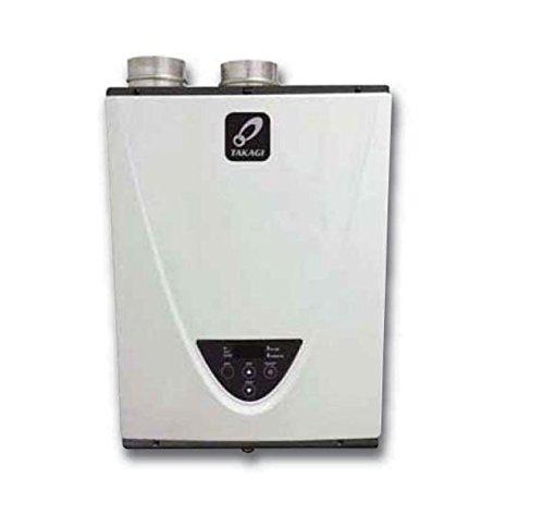 Takagi T-H3-DV-N Condensing High Efficiency Natural Gas Indoor Tankless Water Heater, 10-Gallon Per Minute, 199,000 BTU
