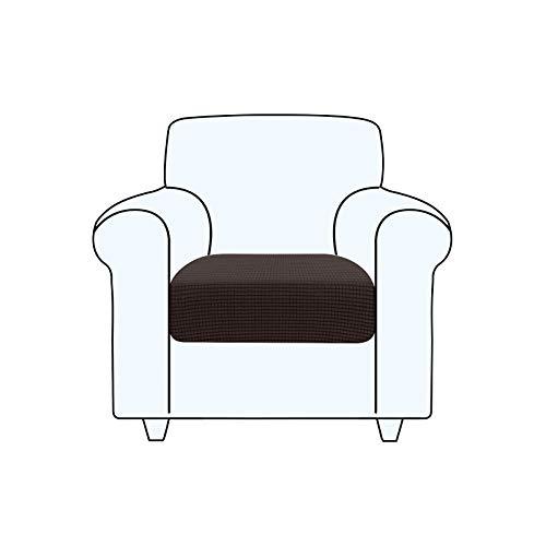 TAOCOCO Copriseduta Divano Elasticizzato Alta qualit Protezione del Cuscino Sedile del Divano Lavabile (1 Posto, Marrone Cioccolato)