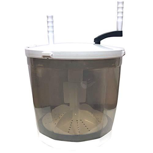 Lavatrice portatile Mini Estrazione lavasciuga Manuale Grigia a Doppio Uso, Leggera, Ecologica, Dimensioni Prodotto 350...