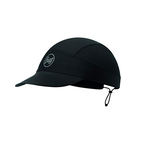 Buff Pack Run Cap R-Solid Black, One Size