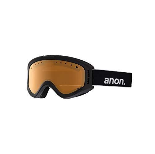 Anon Tracker, Maschera da Sci e Snowboard Bambini e Ragazzi, Black/Amber, Taglia Unica