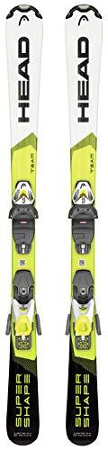 Head Supershape Team SLR Pro 2020 - Sci per bambini con attacco SLR 7.5 GW, bianco-giallo, 147