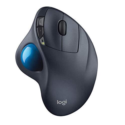 ロジクール ワイヤレスマウス トラックボール 無線 M570t Unifying 5ボタン トラックボールマウス 電池寿命...