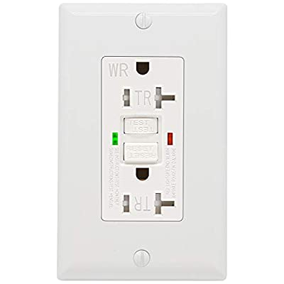 GFCI Outlet - Constructed with premium high-impact resistant thermoplastic materials and rational structure design, ensures superior strength and durability. it a single gang GFCI electrical box that supports a standard duplex, grounded receptacle; S...