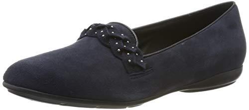 Geox D ANNYTAH C, Bailarinas para Mujer, Azul (Dk Navy C4021), 39 EU