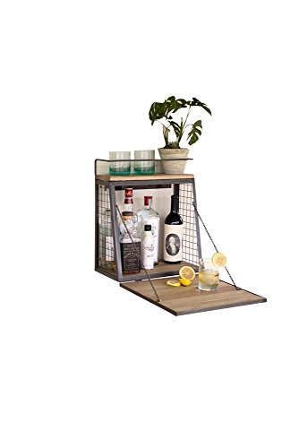 Kalalou Liquor Cabinet with Fold Down Shelf
