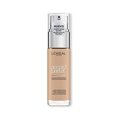 L'Oréal Paris Fondotinta Fluido Coprente Accord Parfait, Risultato Naturale, No Effetto Maschera, 2N Vanille/Vanilla