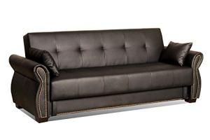 Serta SA-AVO-JB-Set Dream Convertible Seville Sofa with Storage, Java