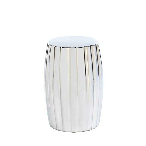 Home Locomotion Ceramic Silver Decorative Stool