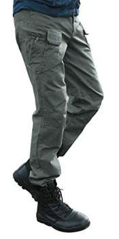 Les umes Pantalon Cargo pour Homme Pantalons de Travail Militaire Tactique Trail Ripstop Combat Vert Militaire L
