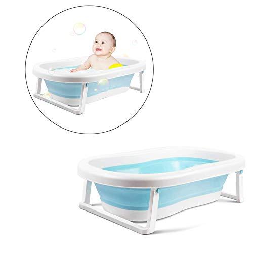 Safe-O-Kid Premium Quality, Anti-Slip Foldable Infant Bathtub, Portable Travel Friendly, Foldable Shower Pool for Kids- (0-3 Years), Blue
