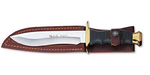 Victorinox Muela Outdoormesser, inkl. Lederscheide, 16 cm gerade Klinge, 26 cm Gesamtlänge, Edelstahl, schwarz