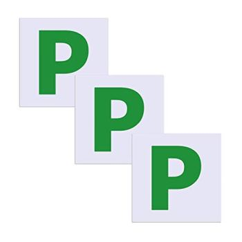 SMALUCK Fully Magnetic Green P Plates 3 Pack, Upgraded Extra Strong Stick On P Sticker for Car