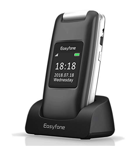 Easyfone Prime-A1 3G Unlocked Senior Flip Cell Phone, Big...
