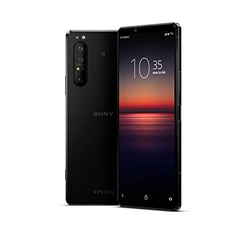 "Sony Xperia 1 II - Teléfono móvil 21:9 de 6.5"" (4K HDR, 21:9 CinemaWide, OLED, cámara de Triple Objetivo zeiss, Audio Jack 3.5mm, Android 10, Libre, 8 GB RAM, 256 GB, IP65/68), Negro"