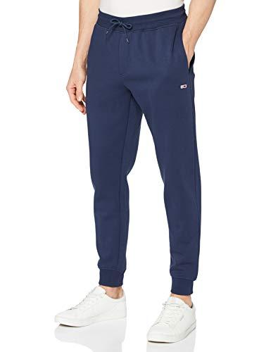 Tommy Jeans Tjm Slim Fleece Sweatpant Pantaloni da Tuta, Twilight Navy, RM Uomo